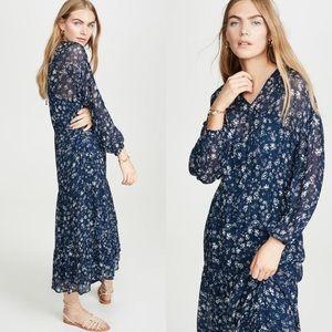 Free People Blue Wallflower Print dress sz M